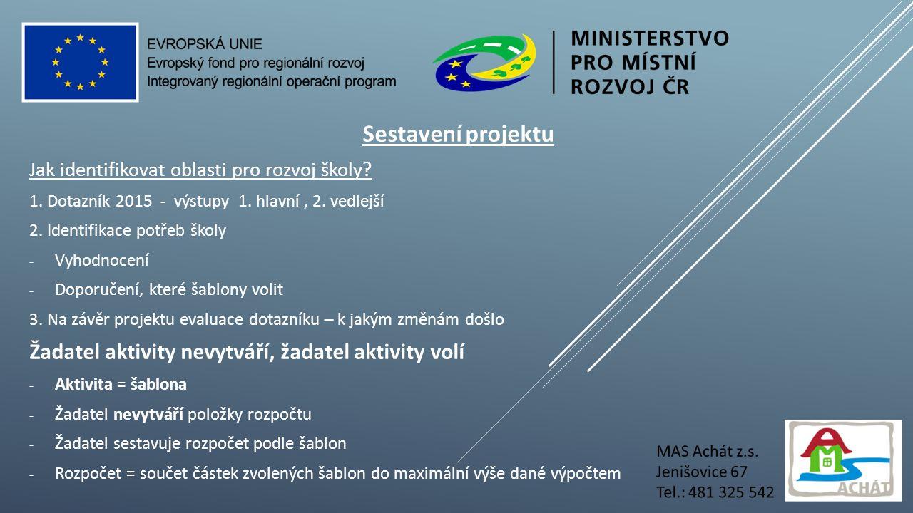 Sestavení projektu Jak identifikovat oblasti pro rozvoj školy.