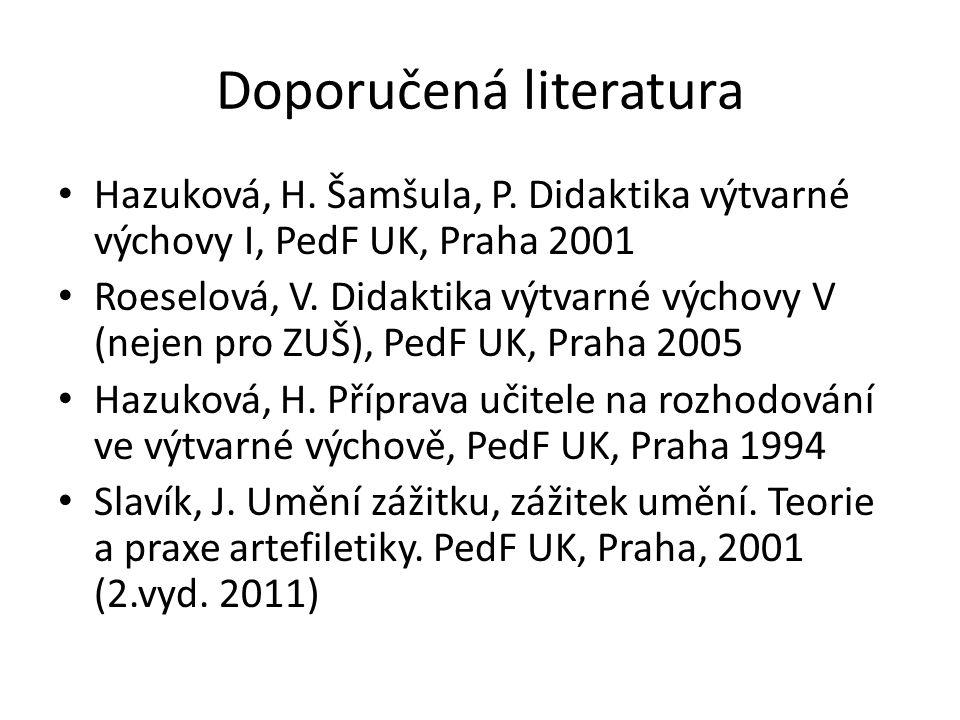 Doporučená literatura Hazuková, H. Šamšula, P.
