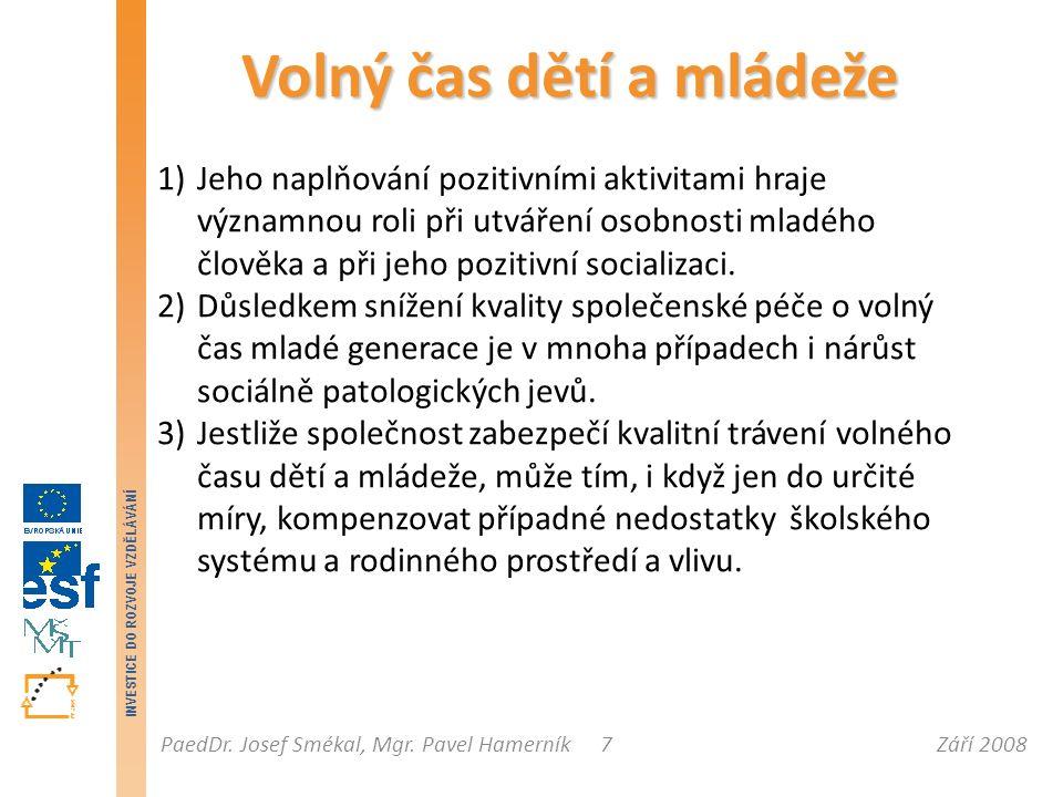 Září 2008PaedDr.Josef Smékal, Mgr.