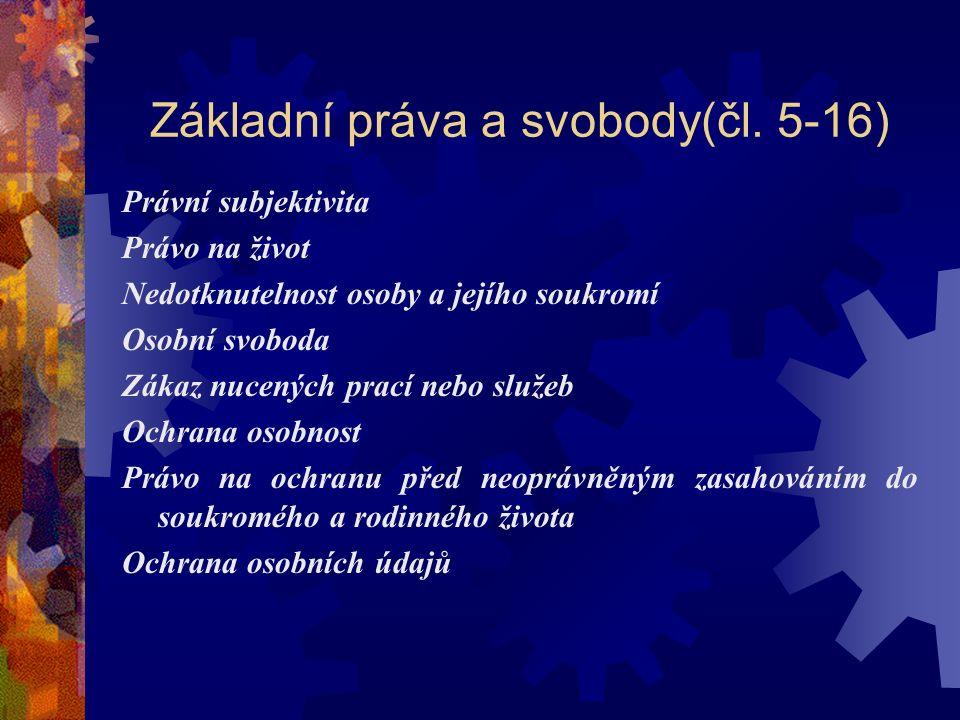 Základní práva a svobody(čl.