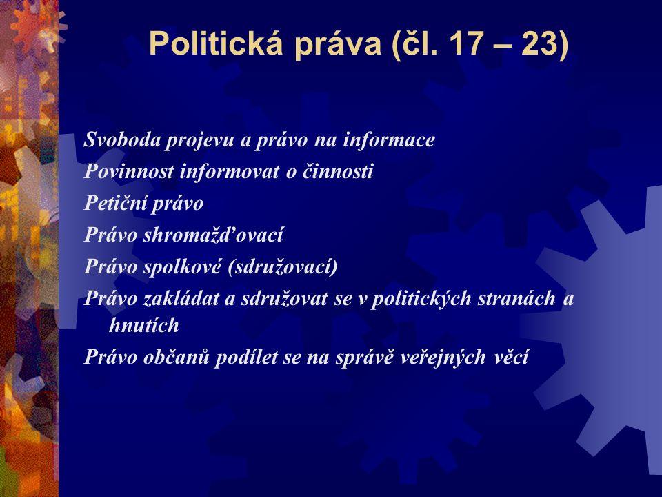 Práva národnostních a etnických menšin Čl.
