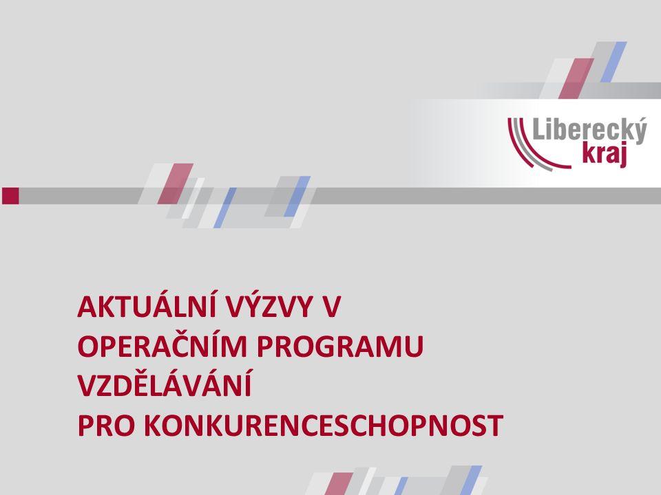 STRATEGICKÉ CÍLE V OBLASTI VZDĚLÁVÁNÍ dle Dlouhodobého záměru vzdělávání a rozvoje vzdělávací soustavy Libereckého kraje 2012 - 2016 ODPOVÍDAJÍCÍ KAPACITA SÍTĚ REGIONÁLNÍ CENTRA OBOROVĚ SILNÝCH ŠKOL ODPOVĚDNOST MANAGEMENTU EFEKTIVITA VZDĚLÁVÁNÍ INOVACE OBSAHU VZDĚLÁVÁNÍ ROZVOJ KOMPETENCÍ PEDAGOGŮ HODNOCENÍ KVALITA VZDĚLÁVÁNÍ DOSTUPNOST PORADENSKÝCH SLUŽEB INTEGRACE & INKLUZE ROVNÉ PŘÍLEŽITOSTI