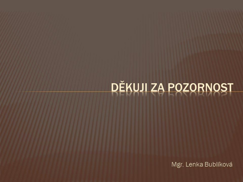 Mgr. Lenka Bublíková