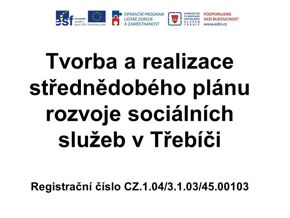 Tvorba a realizace střednědobého plánu rozvoje sociálních služeb v Třebíči Registrační číslo CZ.1.04/3.1.03/45.00103