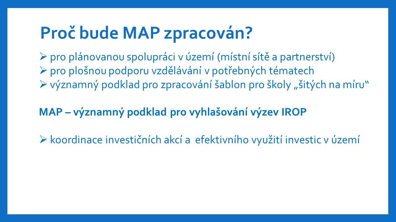 Proč bude MAP zpracován.