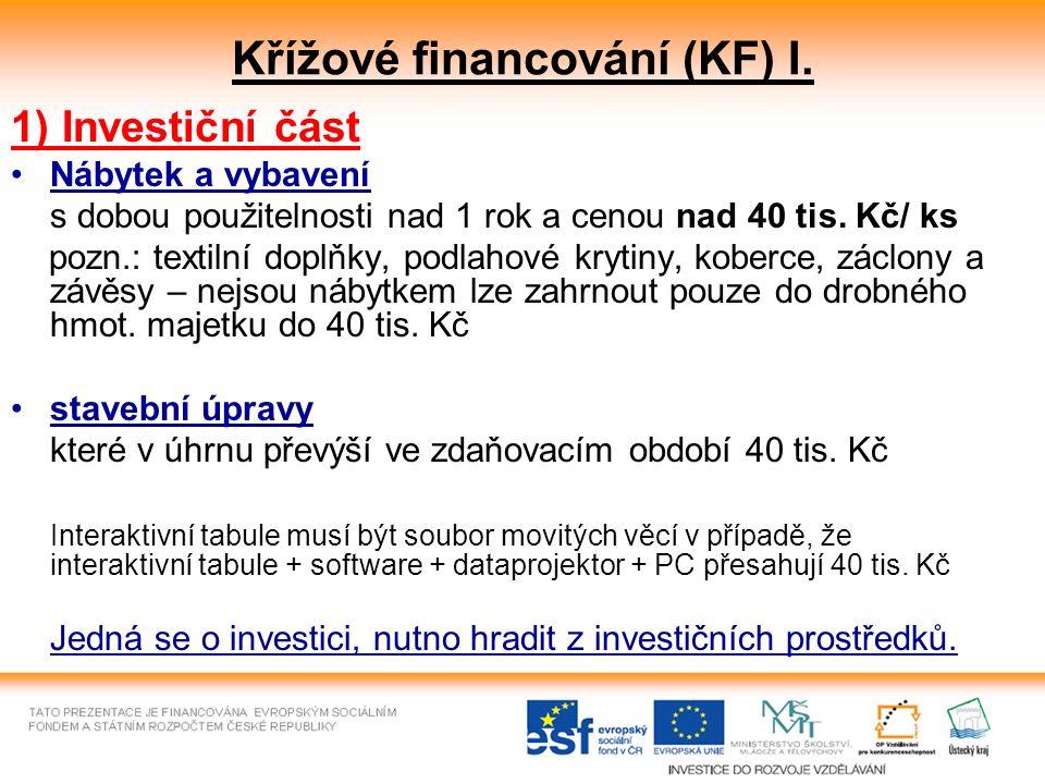 Křížové financování (KF) I.