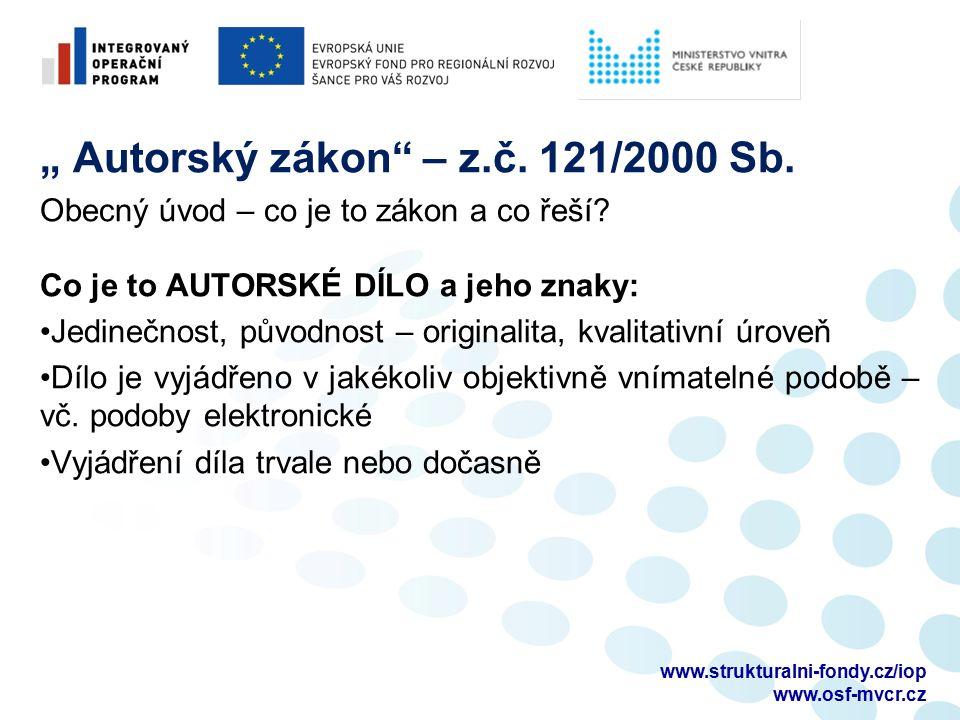 DĚKUJEME ZA POZORNOST Autorské právo pajerova@advokatka.cz Veřejné zakázky petr.panyr@seznam.cz www.strukturalni-fondy.cz/iop www.osf-mvcr.cz