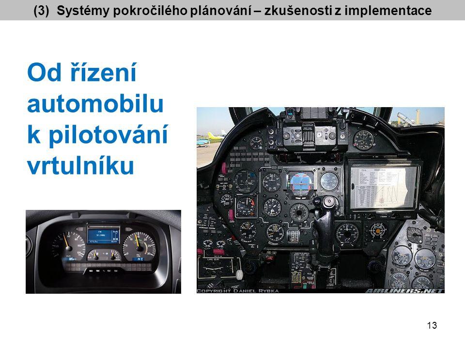 Od řízení automobilu k pilotování vrtulníku (3) Systémy pokročilého plánování – zkušenosti z implementace 13
