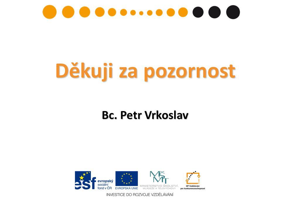 Děkuji za pozornost Bc. Petr Vrkoslav