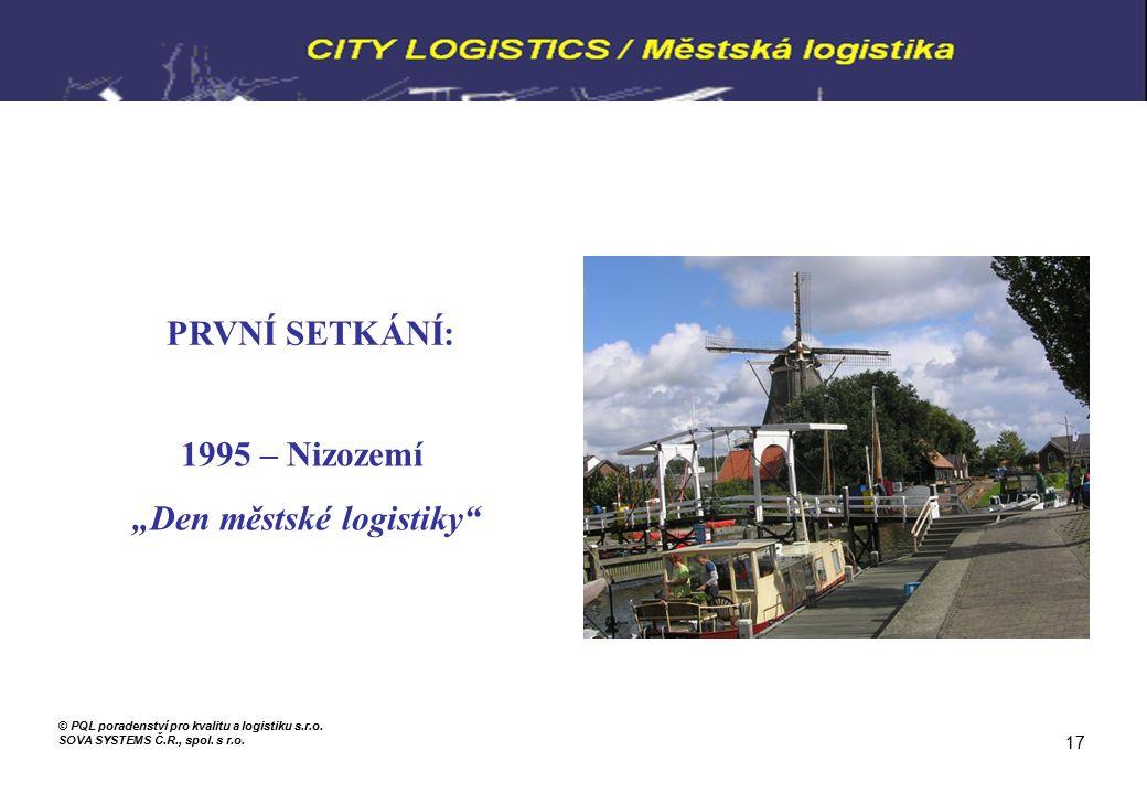 """PRVNÍ SETKÁNÍ: 1995 – Nizozemí """"Den městské logistiky © PQL poradenství pro kvalitu a logistiku s.r.o."""
