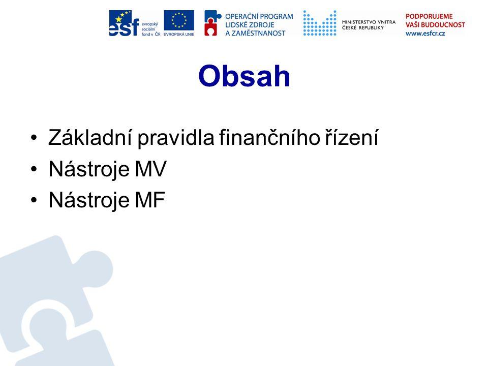 Finanční řízení projektů Ing. Marcelína Horáková marcelina.horakova@mvcr.cz tel. 974818334