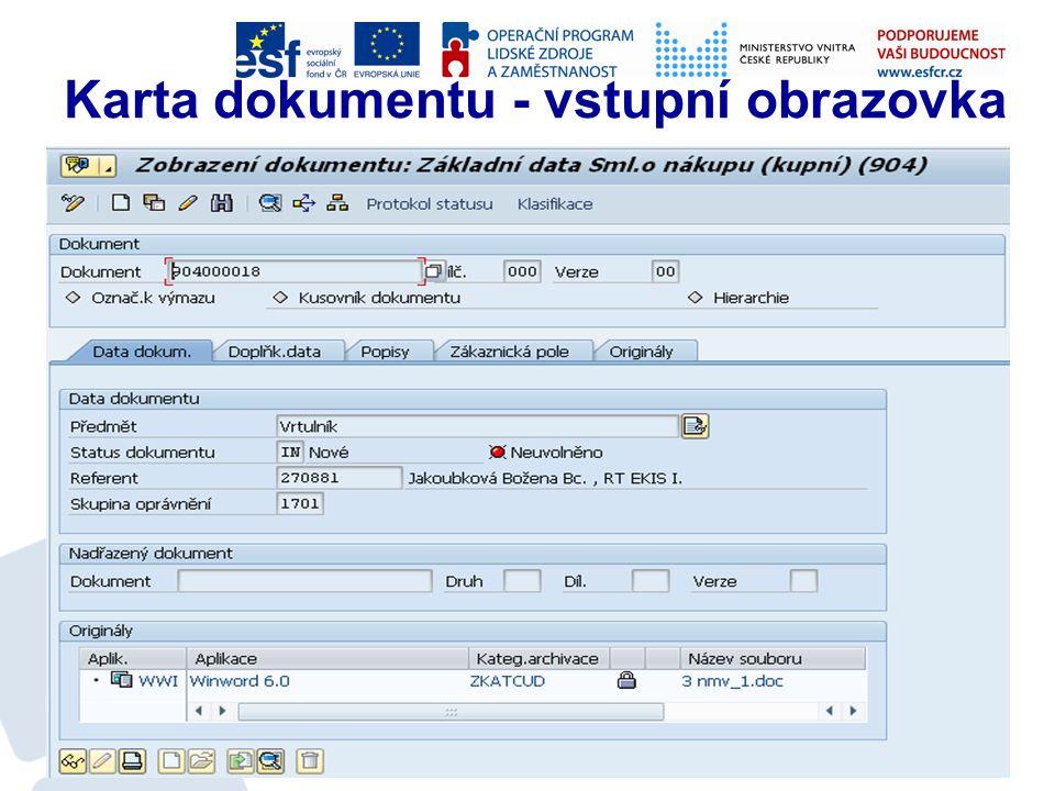 Správa dokumentů Aktivní využívání bylo zahájeno v únoru 2012 K dnešnímu dni jsou do systému vloženy informace o cca 17 000 smlouvách K cca k 13 000 záznamů je již přiložen i digitalizovaný dokument