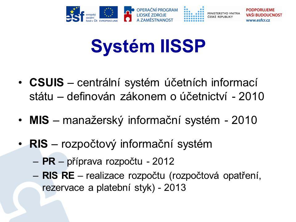 Nástroje MF Integrovaný informační systém státní pokladny Evidenční dotační systém EDS Systém pro správu majetku ve vlastnictví státu SMVS