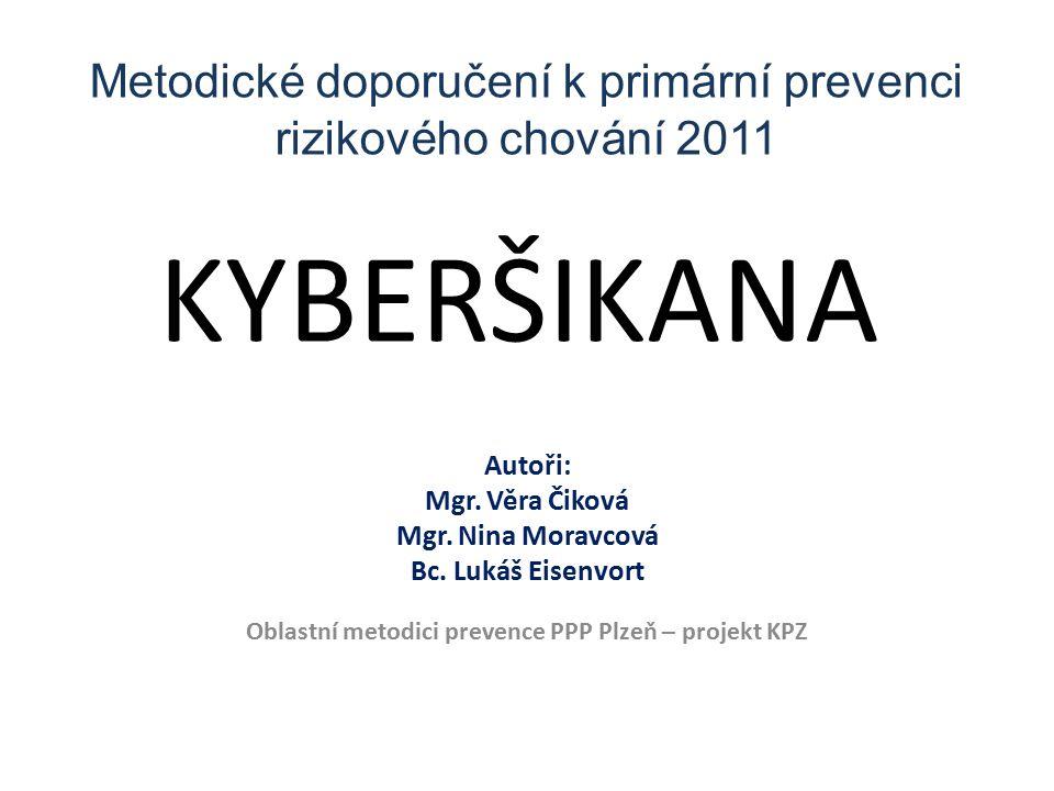 KYBERŠIKANA Autoři: Mgr. Věra Čiková Mgr. Nina Moravcová Bc.