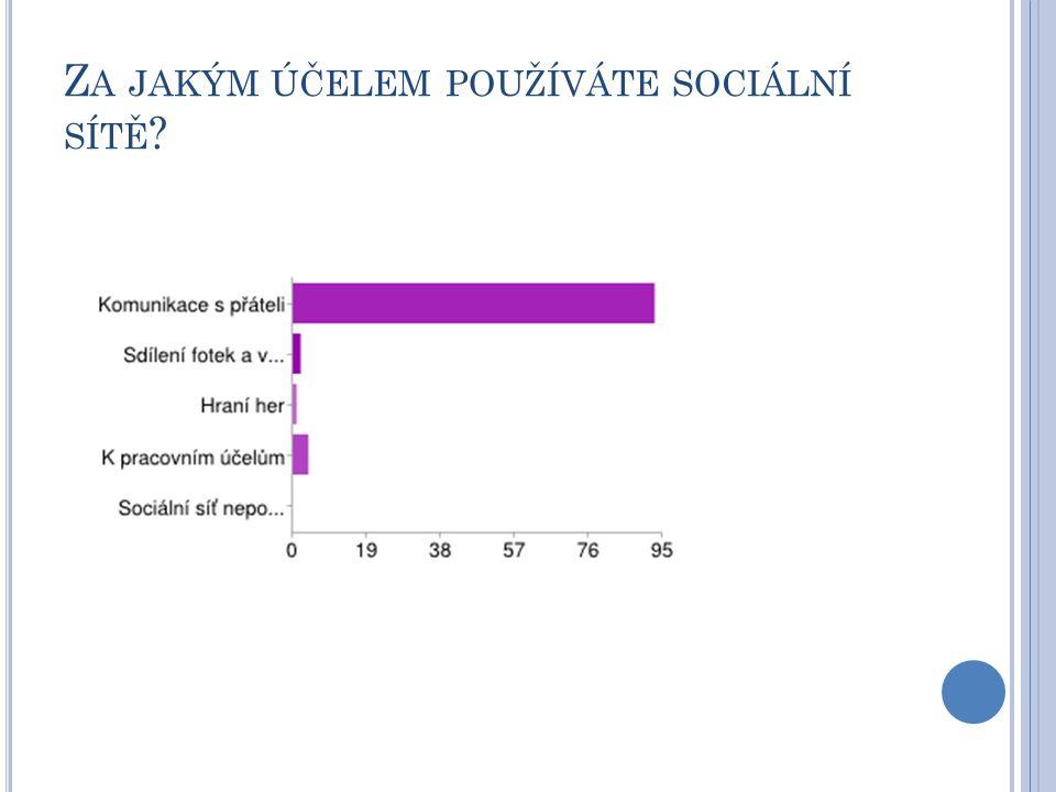 Z A JAKÝM ÚČELEM POUŽÍVÁTE SOCIÁLNÍ SÍTĚ ?
