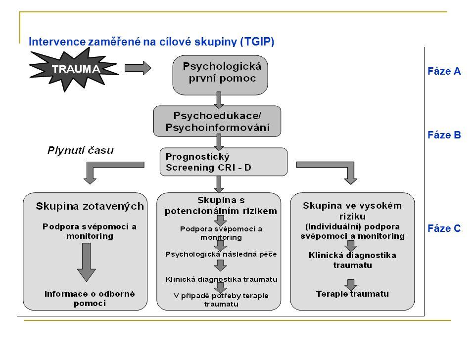Intervence zaměřené na cílové skupiny (TGIP) Fáze A Fáze B Fáze C