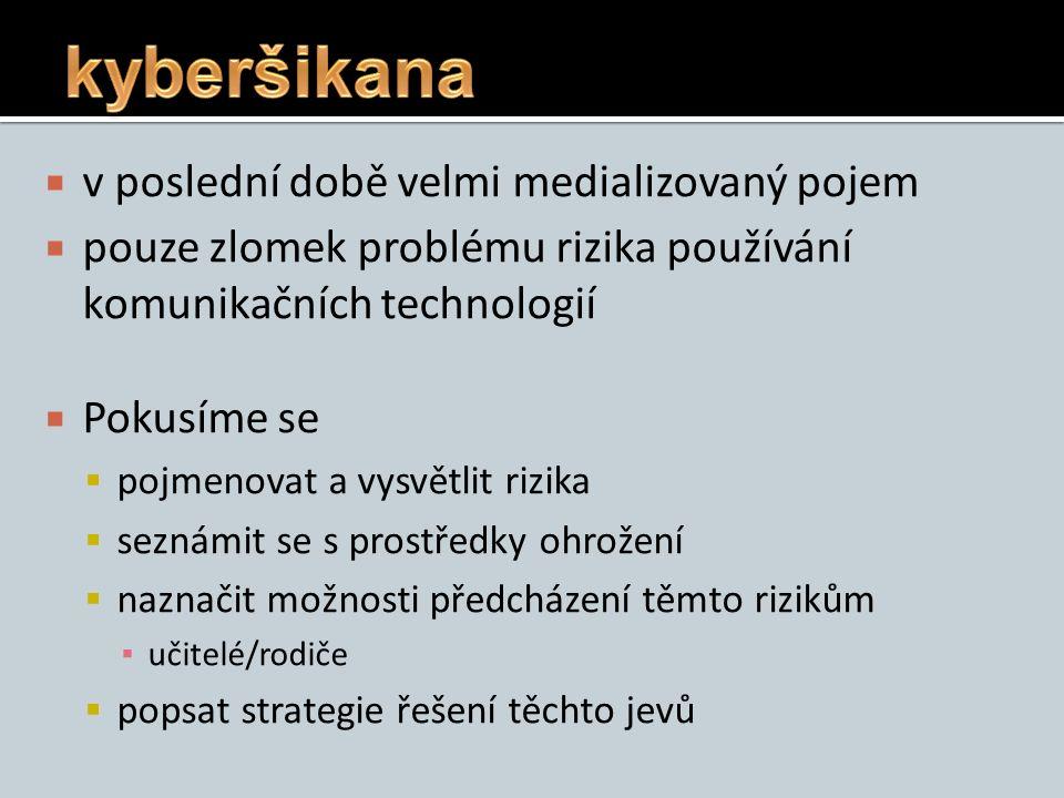 Strategie řešení kyberšikany 1.UKONČI – nekomunikuj s útočníkem, nemsti se, nereaguj 2.