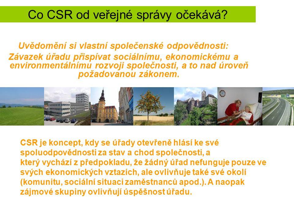 Co CSR od veřejné správy očekává.