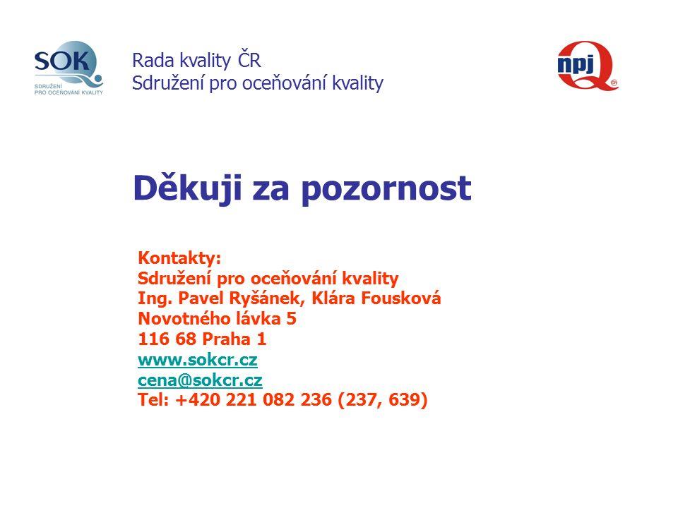 Děkuji za pozornost Kontakty: Sdružení pro oceňování kvality Ing.