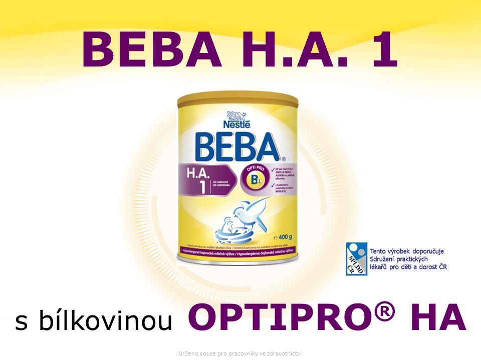 27 BEBA H.A. 1 s bílkovinou OPTIPRO ® HA Určeno pouze pro pracovníky ve zdravotnictví