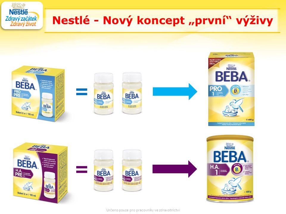 """36 = = = Nejnižší množství vysoce kvalitní bílkoviny Nestlé - Nový koncept """"první výživy Určeno pouze pro pracovníky ve zdravotnictví"""
