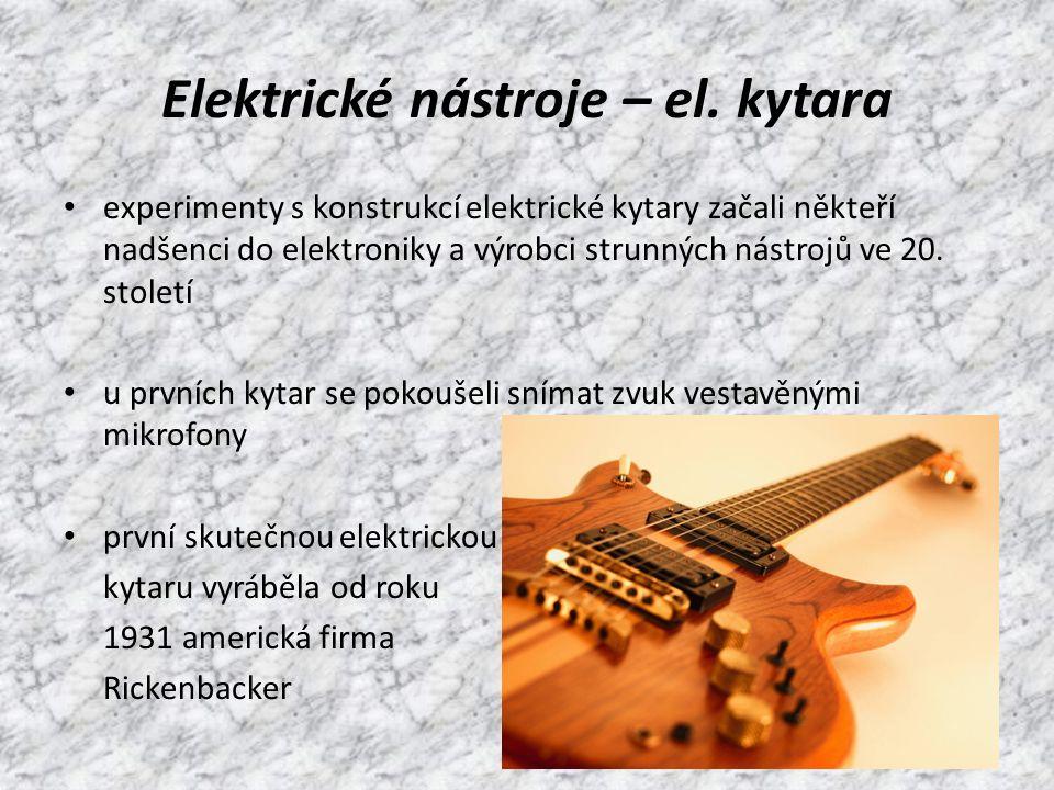 Elektrické nástroje – el.