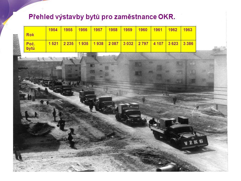Přehled výstavby bytů pro zaměstnance OKR. Rok 1954195519561957195819591960196119621963 Poč.