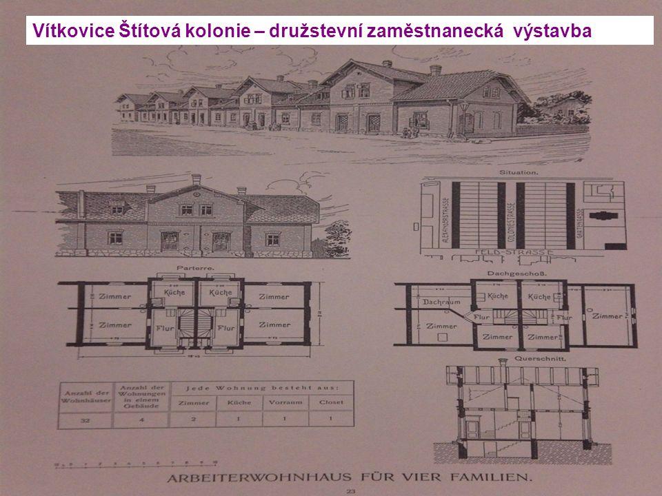 Vítkovice Štítová kolonie – družstevní zaměstnanecká výstavba