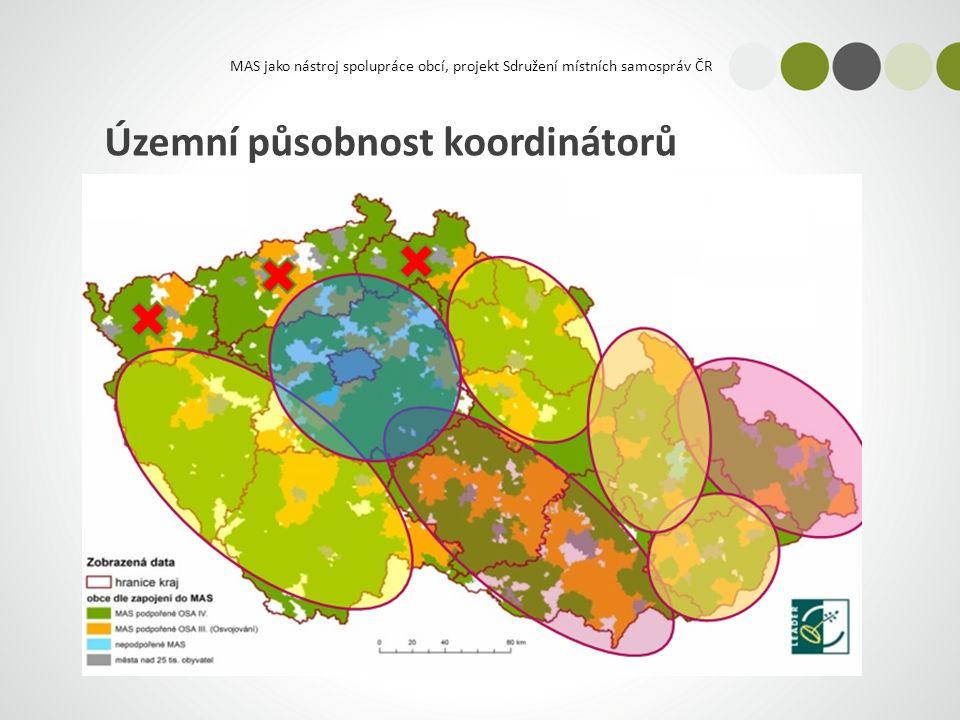 MAS jako nástroj spolupráce obcí, projekt Sdružení místních samospráv ČR Územní působnost koordinátorů
