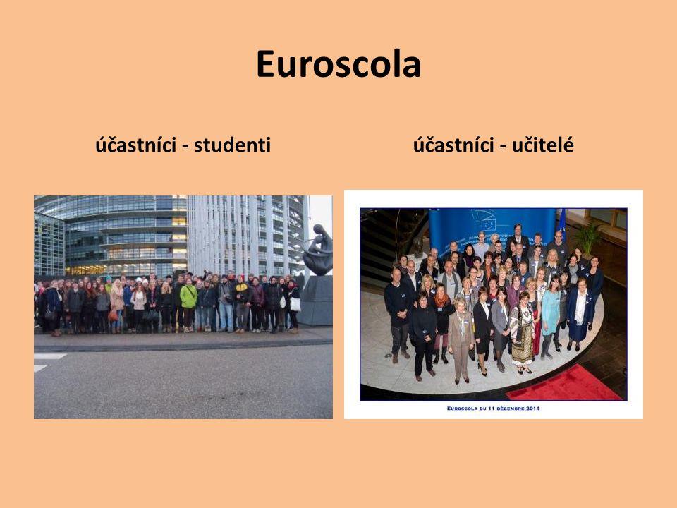 Euroscola účastníci - studentiúčastníci - učitelé