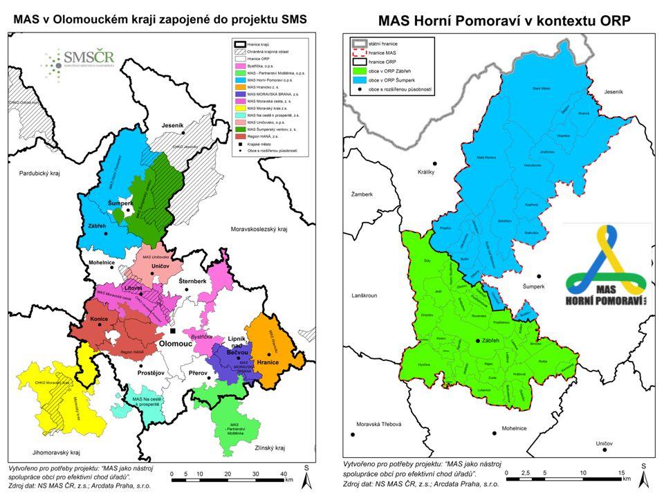 Spolupráce Strategie MAS často vůbec neobsahovaly oblast spolupráce obcí.