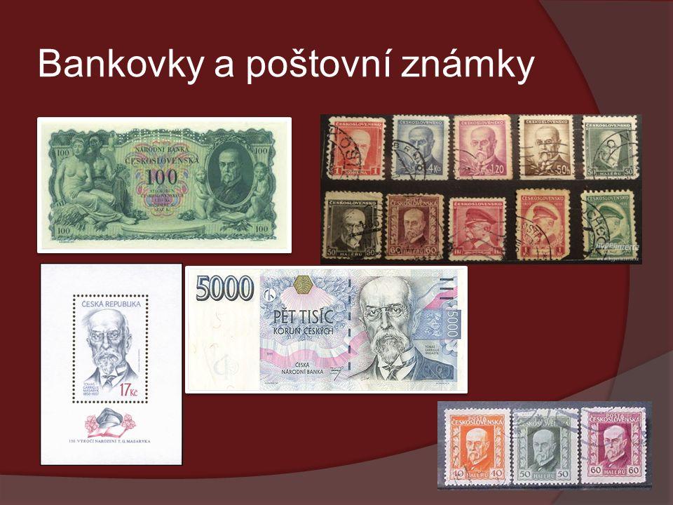 Bankovky a poštovní známky