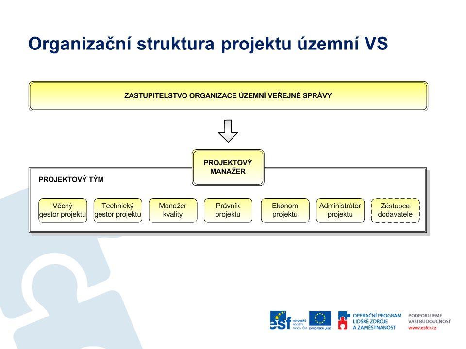 Organizační struktura projektu územní VS