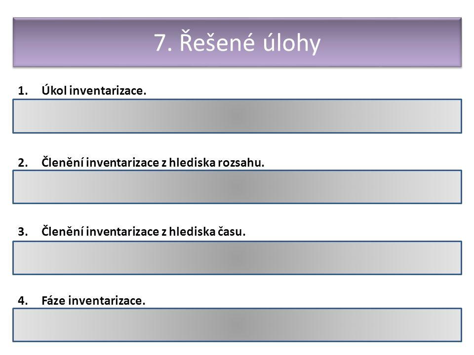 Hodnocení a odměňování pracovníků 1.Úkol inventarizace.