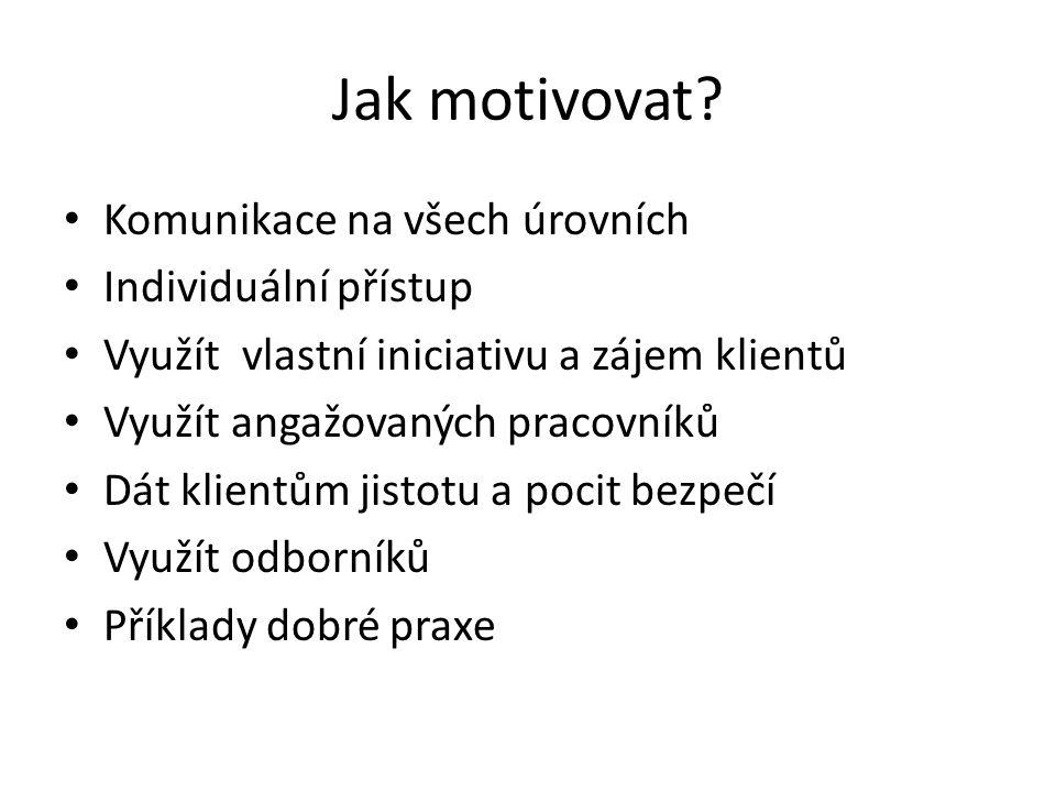 Jak motivovat.