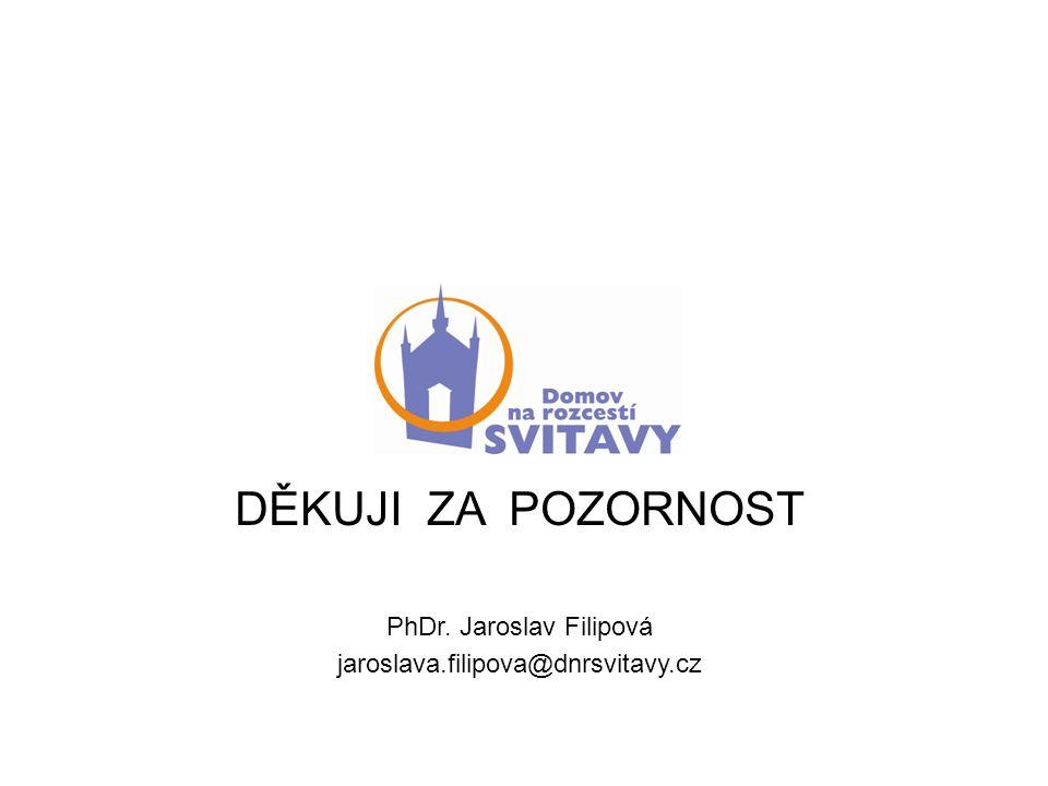 DĚKUJI ZA POZORNOST PhDr. Jaroslav Filipová jaroslava.filipova@dnrsvitavy.cz