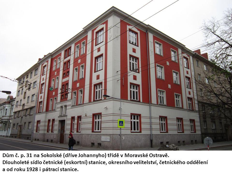 Dům č. p. 31 na Sokolské (dříve Johannyho) třídě v Moravské Ostravě.