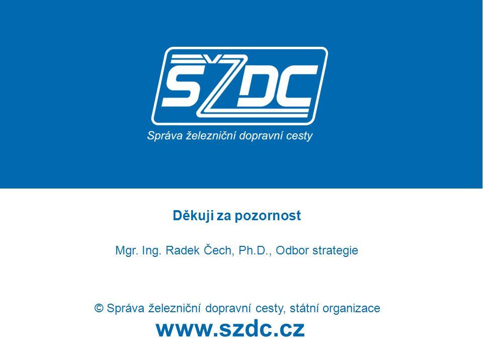 www.szdc.cz Děkuji za pozornost Mgr. Ing. Radek Čech, Ph.D., Odbor strategie © Správa železniční dopravní cesty, státní organizace