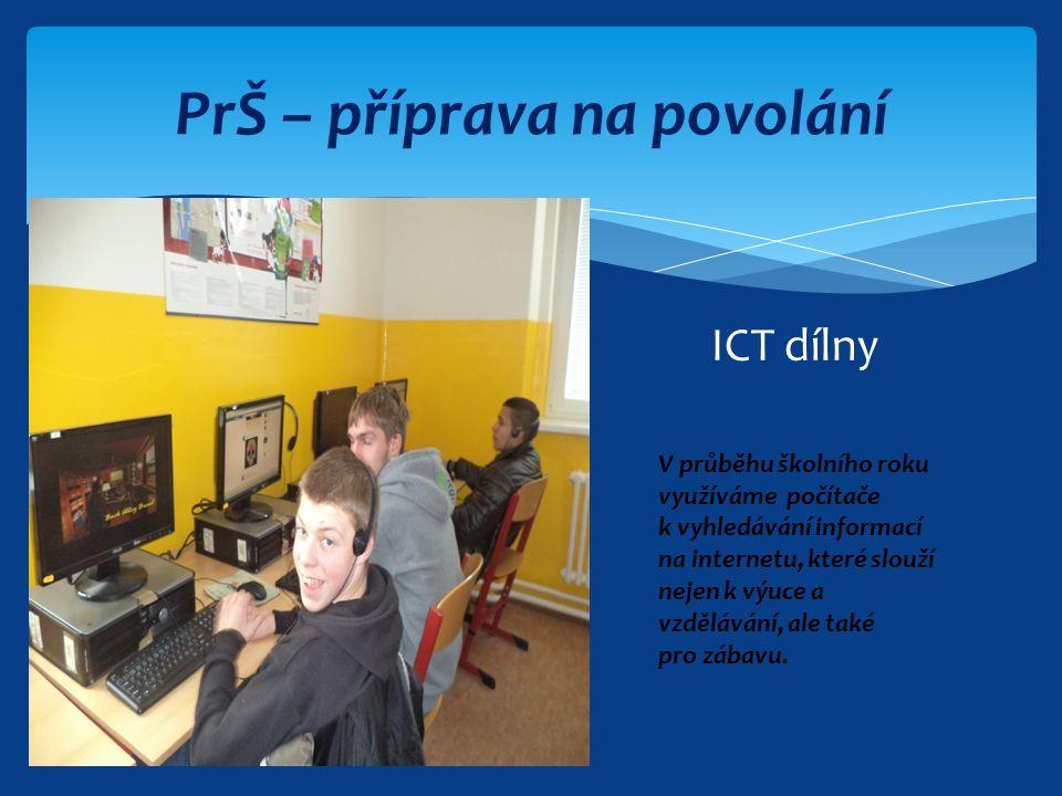 ICT dílny V průběhu školního roku využíváme počítače k vyhledávání informací na internetu, které slouží nejen k výuce a vzdělávání, ale také pro zábavu.