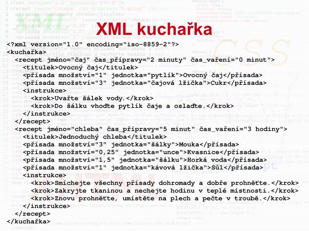 XML kuchařka