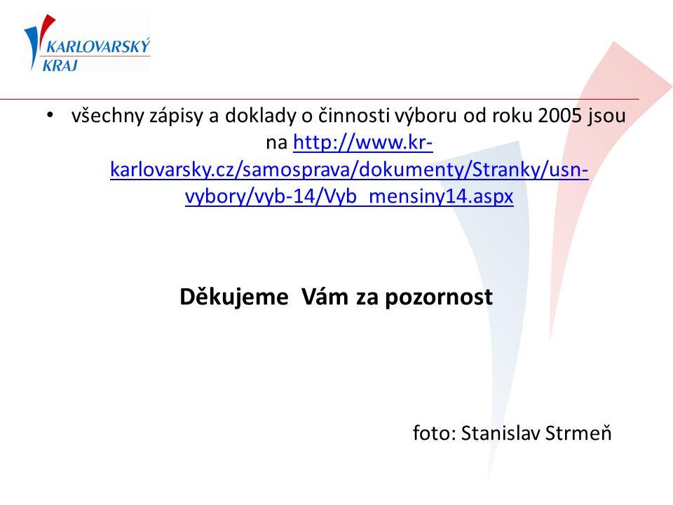 všechny zápisy a doklady o činnosti výboru od roku 2005 jsou na http://www.kr- karlovarsky.cz/samosprava/dokumenty/Stranky/usn- vybory/vyb-14/Vyb_mensiny14.aspxhttp://www.kr- karlovarsky.cz/samosprava/dokumenty/Stranky/usn- vybory/vyb-14/Vyb_mensiny14.aspx Děkujeme Vám za pozornost foto: Stanislav Strmeň