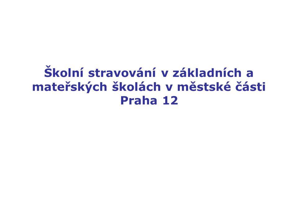 Školní stravování v základních a mateřských školách v městské části Praha 12