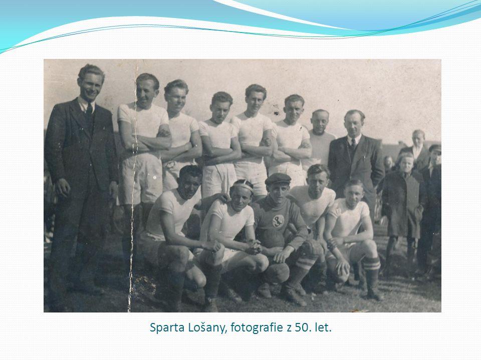 Sparta Lošany, fotografie z 50. let.