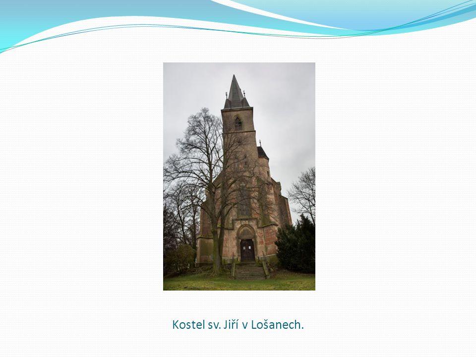 Kostel sv. Jiří v Lošanech.
