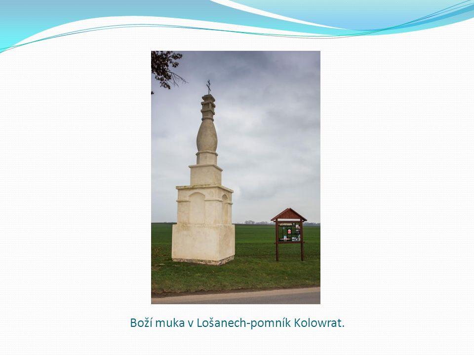 Boží muka v Lošanech-pomník Kolowrat.