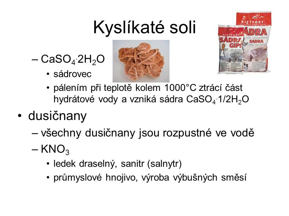 Kyslíkaté soli –CaSO 4.