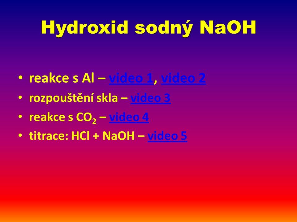 Hydroxid sodný jednoduché shrnutí: Vzorec?NaOH Anglický název.