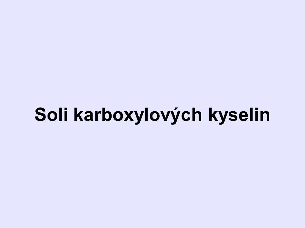 Soli karboxylových kyselin