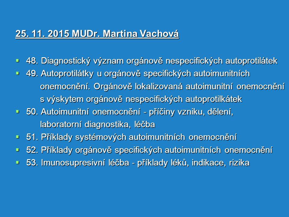 25. 11. 2015 MUDr. Martina Vachová  48.