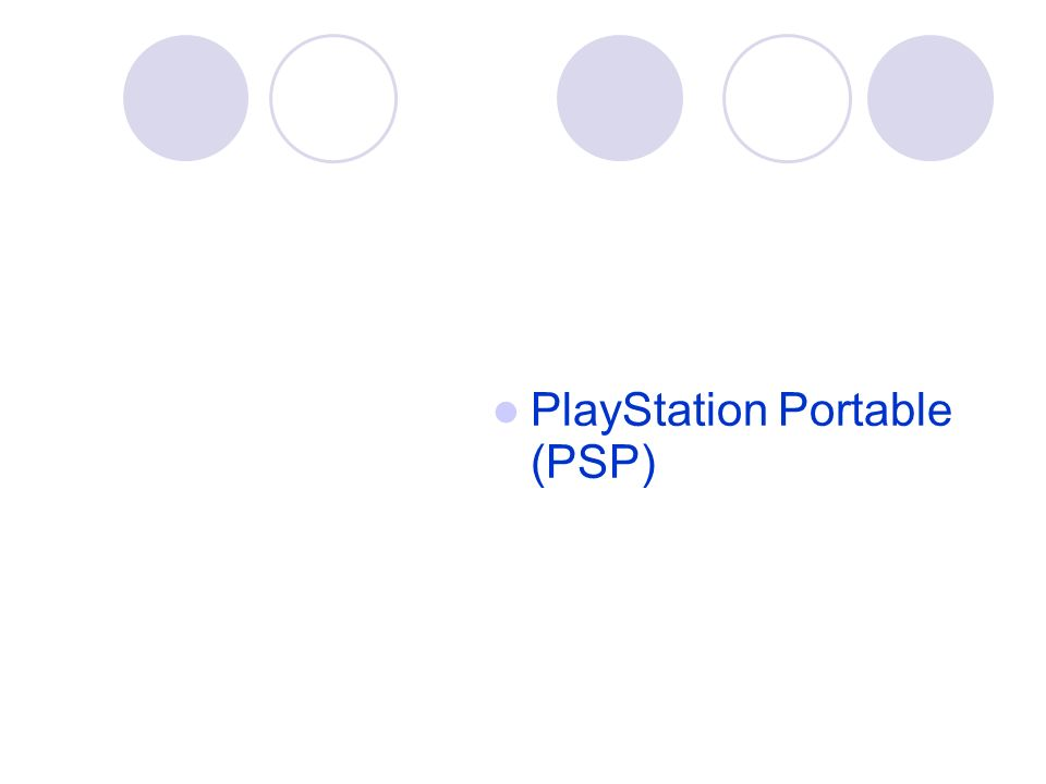 PlayStation Portable (PSP)‏